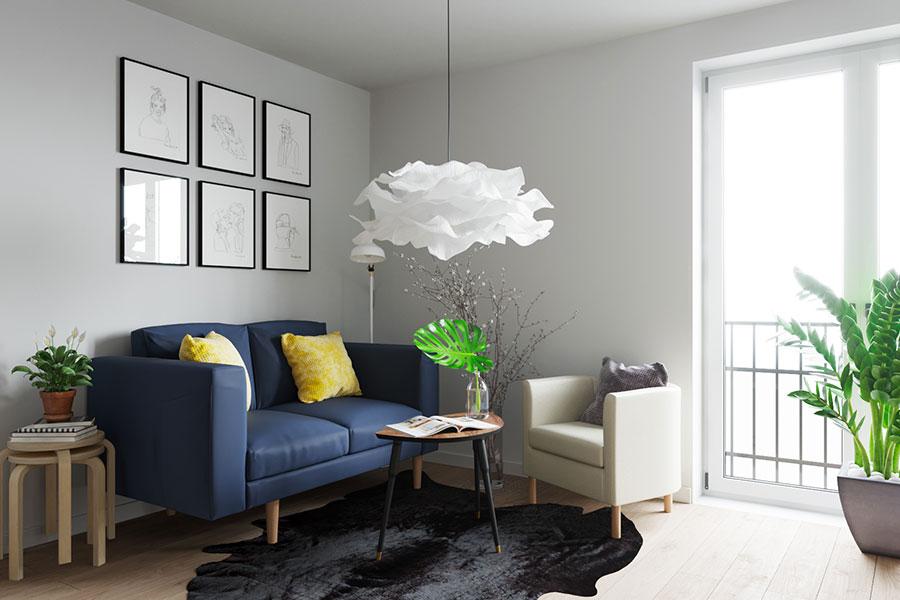 Idee per arredare un monolocale con Ikea n.04