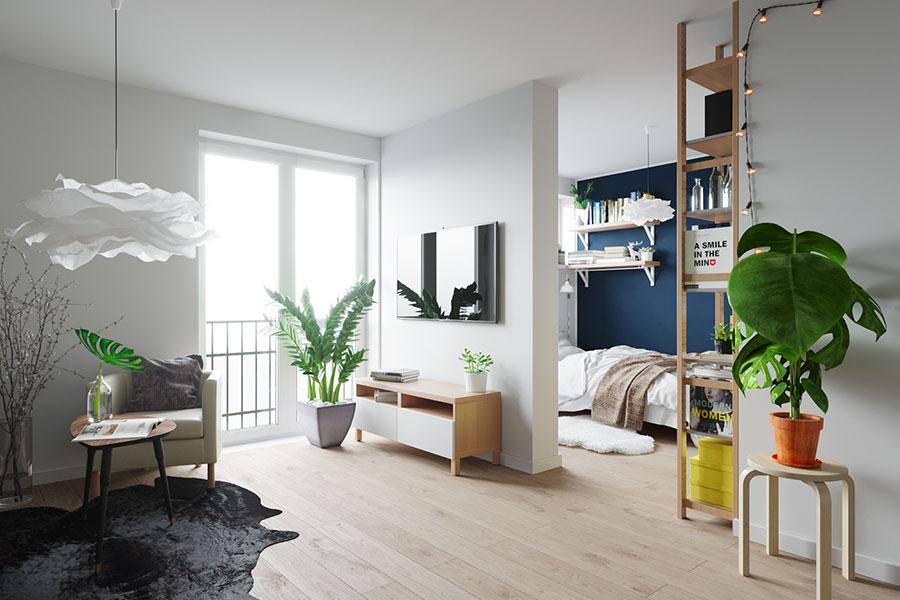 Idee per arredare un monolocale con Ikea n.05
