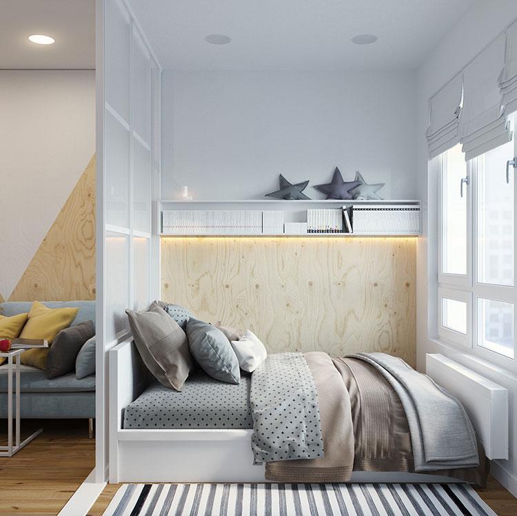 Idee per arredare un monolocale con Ikea n.17