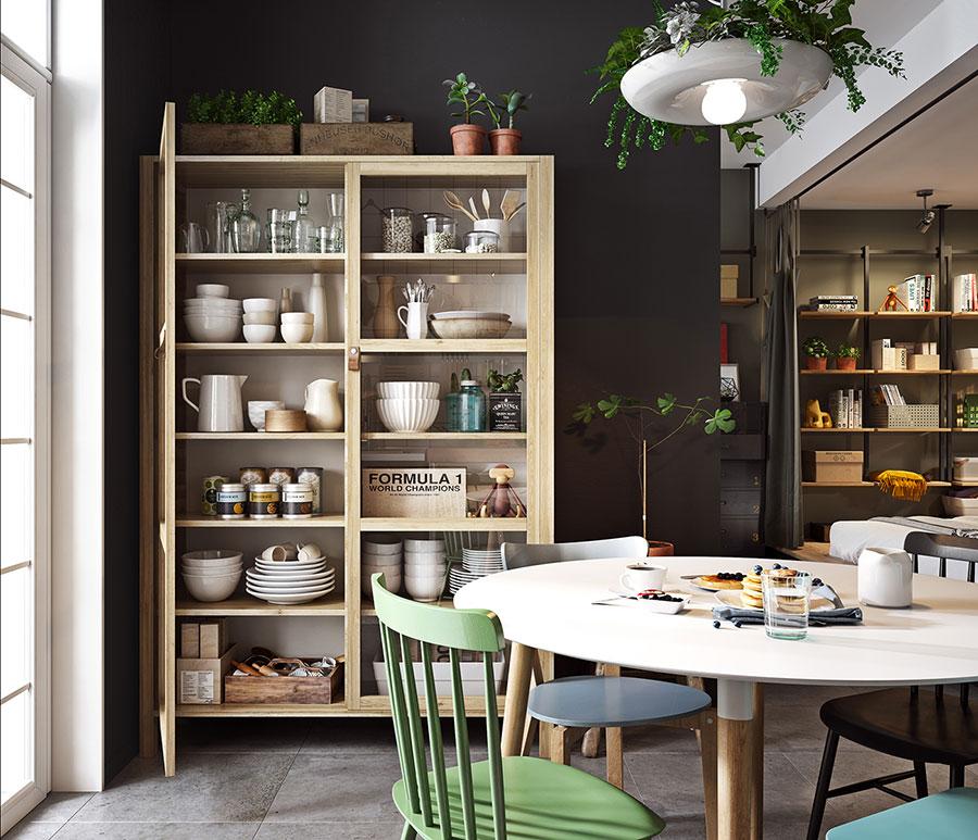 Idee per arredare un monolocale con Ikea n.19