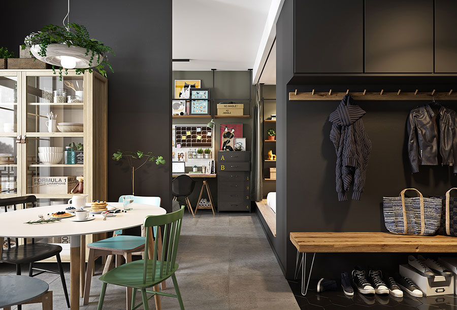 Idee per arredare un monolocale con Ikea n.22