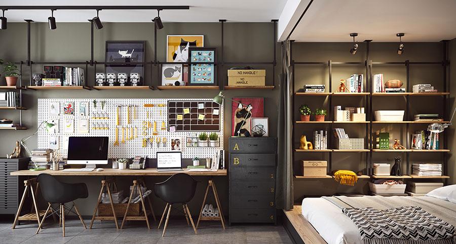Idee per arredare un monolocale con Ikea n.24