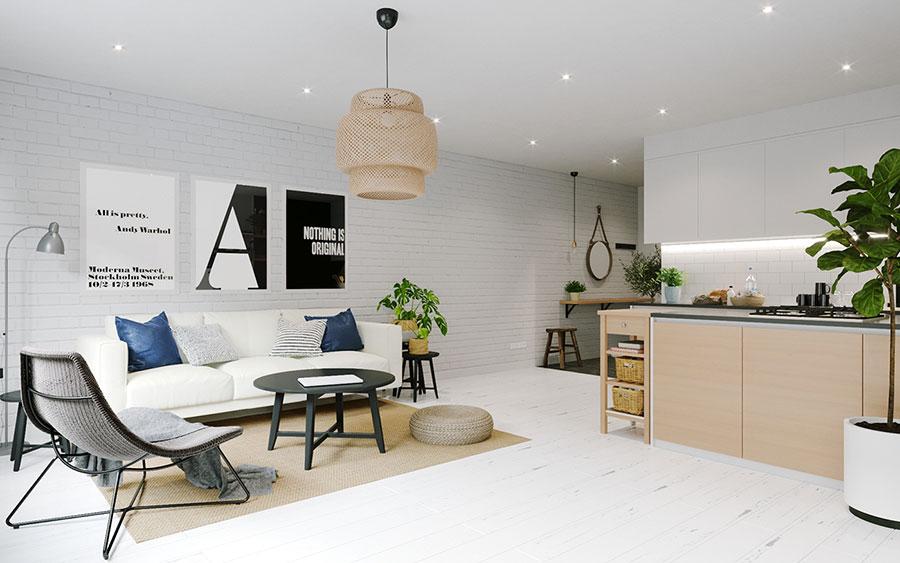 Come arredare soggiorno con angolo cottura Ikea mq n.02
