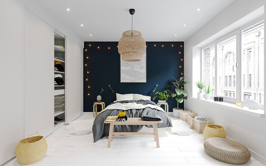 Idee per arredare un monolocale con Ikea n.30