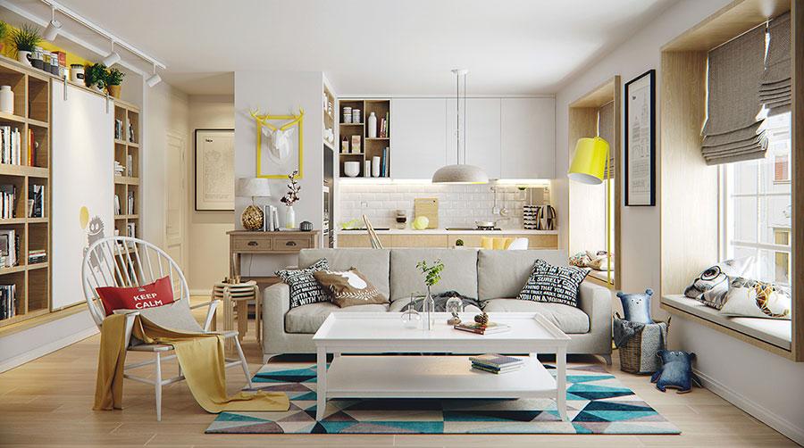 Come arredare soggiorno con angolo cottura Ikea mq n.01