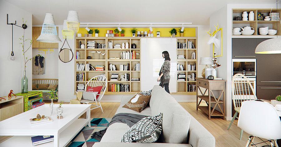 Idee per arredare un monolocale con Ikea n.35