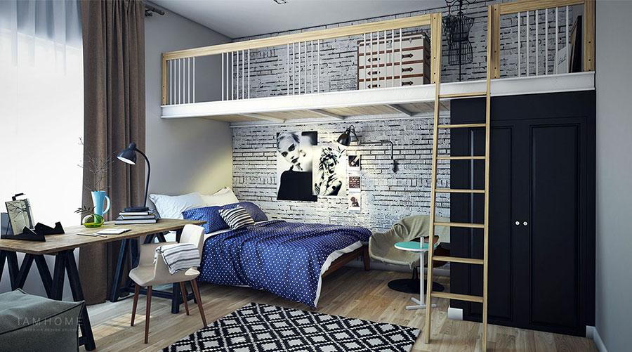 Camera da letto con soppalco salvaspazio n.01