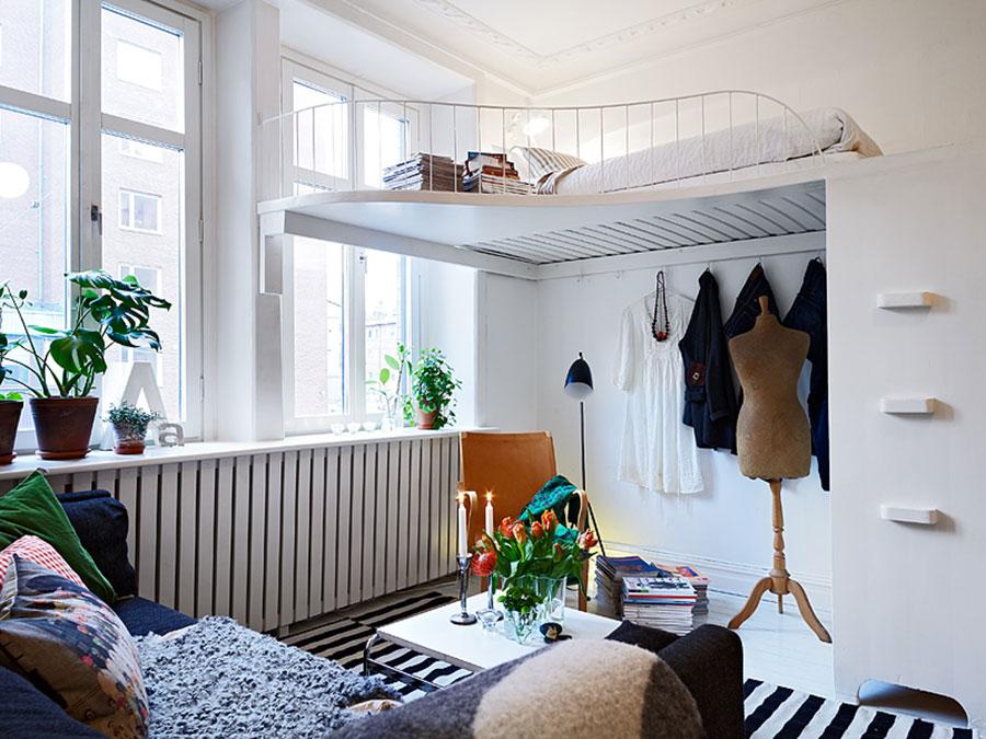 Camera da letto con soppalco salvaspazio n.03