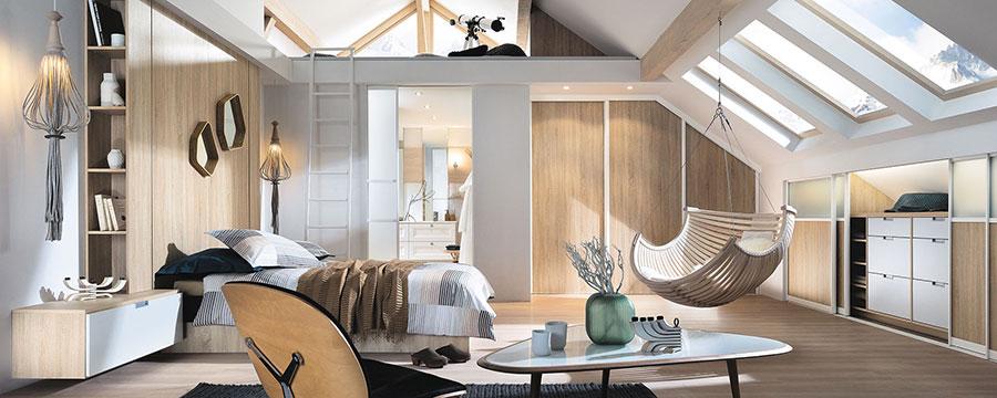 Camera da letto con soppalco salvaspazio n.06