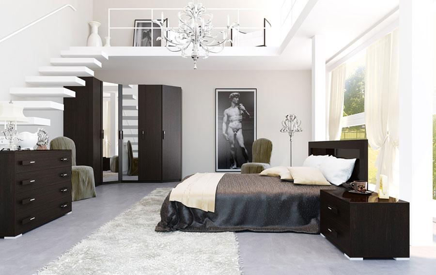 Camera da letto con soppalco salvaspazio n.07