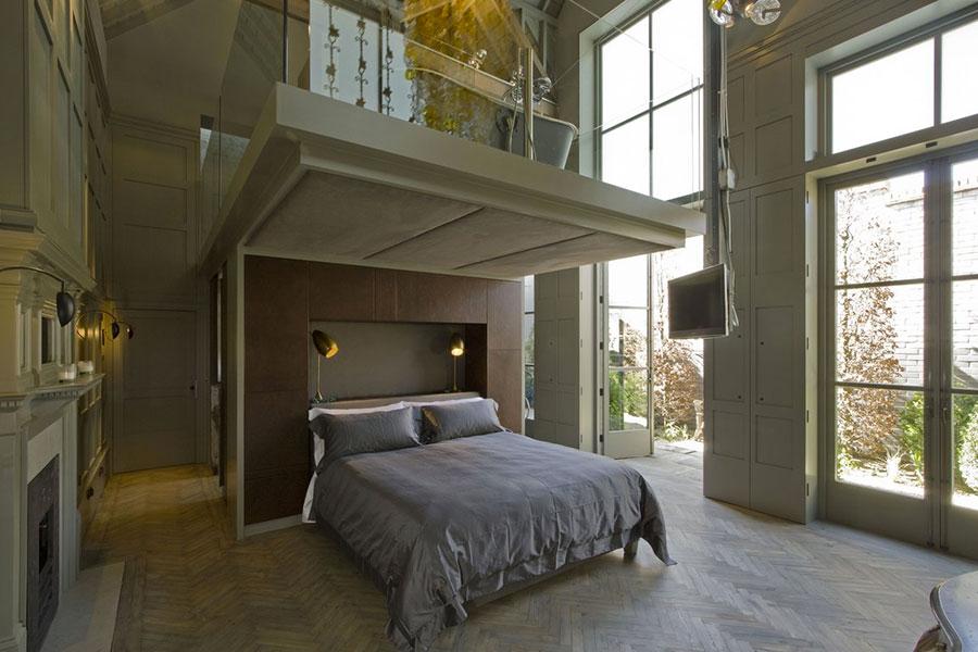 Camera da letto con soppalco salvaspazio n.09
