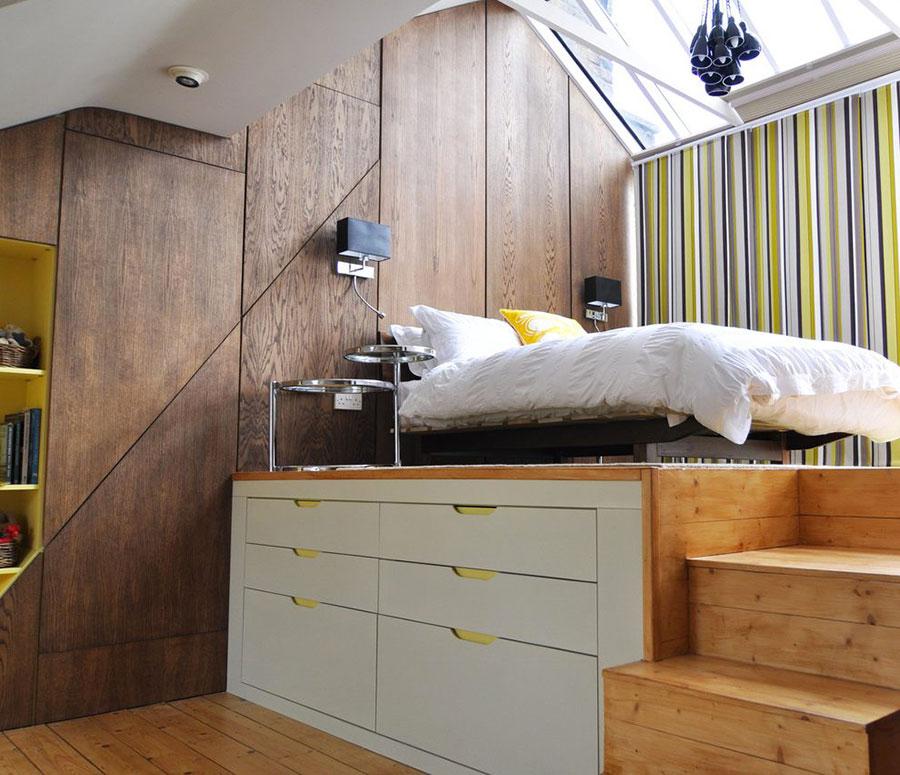 Camera da letto con soppalco salvaspazio n.10