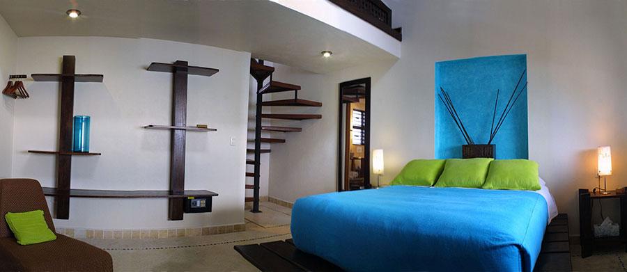 Camera da letto con soppalco salvaspazio n.12