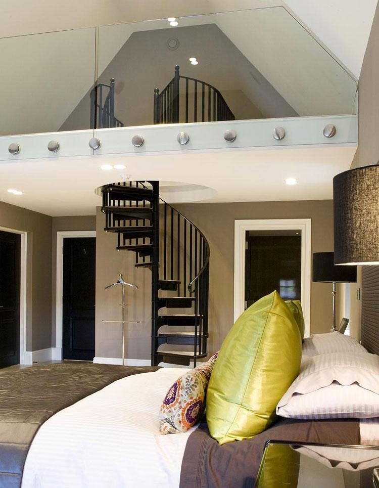 Camere da letto con soppalco tante idee originali e salvaspazio - Letto soppalco legno ...