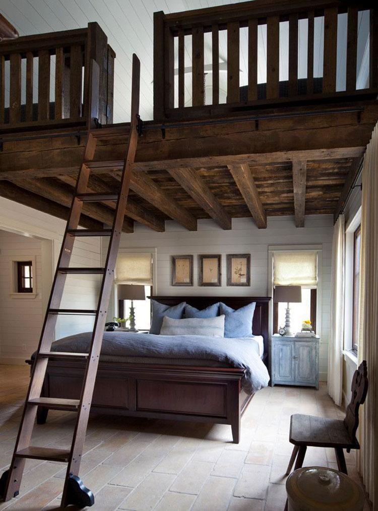 Camera da letto con soppalco salvaspazio n.17
