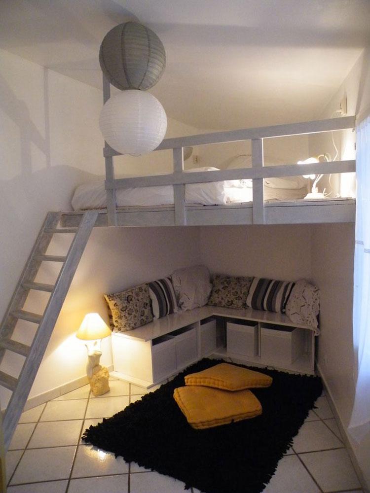 Camera da letto con soppalco salvaspazio n.19