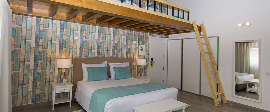 Camera da letto con soppalco salvaspazio n.20