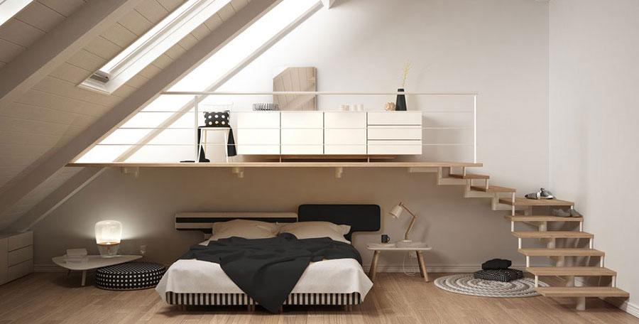 Idee camera da letto con soppalco