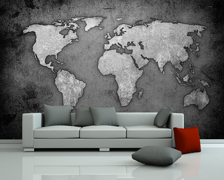 20 tipi di carta da parati con mappamondo. Black Bedroom Furniture Sets. Home Design Ideas