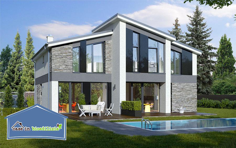 Progetto di casa in legno in Friuli di Bio Style House
