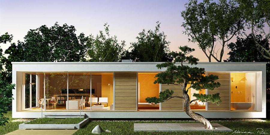 Progetto di casa in legno in Friuli firmata Biohaus