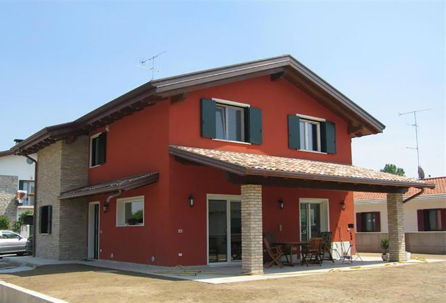 Progetto di casa in legno in Friuli di Bioville