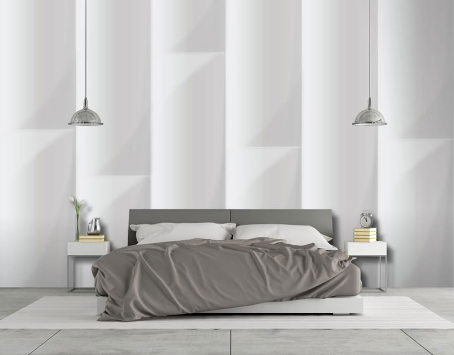 Idee per decorare la camera da letto con la carta da parati n.13