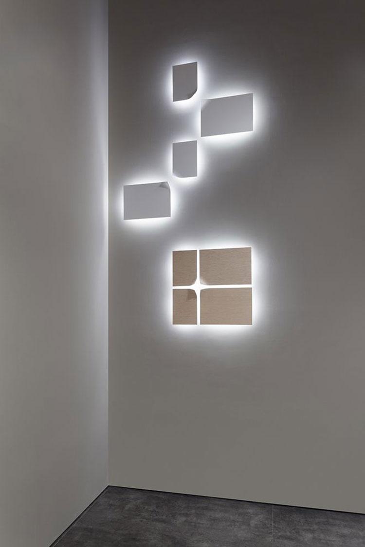 Idee per decorare la camera da letto con luci murali n.06