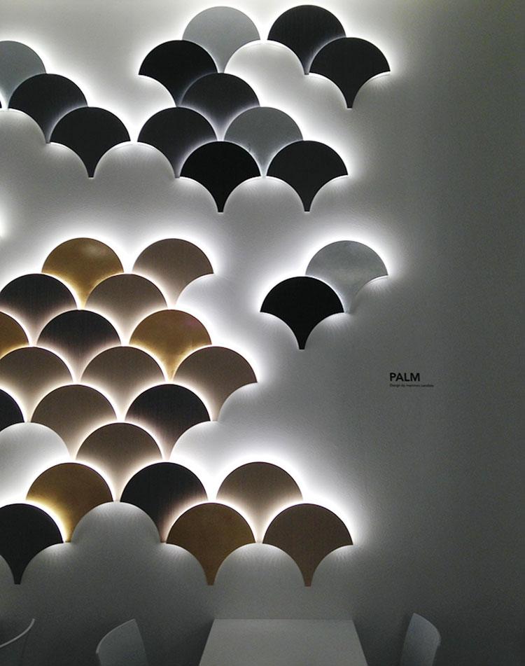 Idee per decorare la camera da letto con luci murali n.08