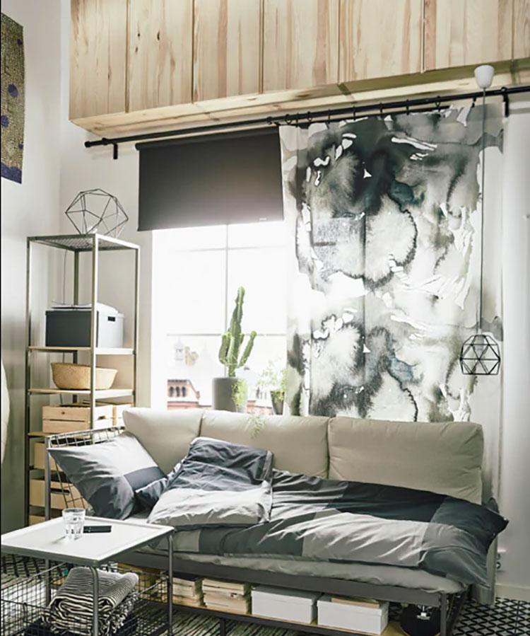 Idee per arredare un monolocale con Ikea n.38