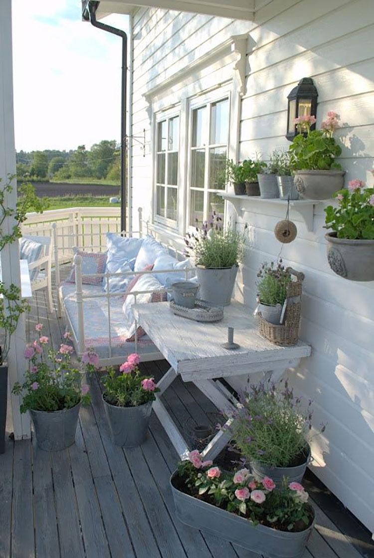 Terrazzo shabby chic ecco 20 idee per arredi e decorazioni - Terrazzi di design ...