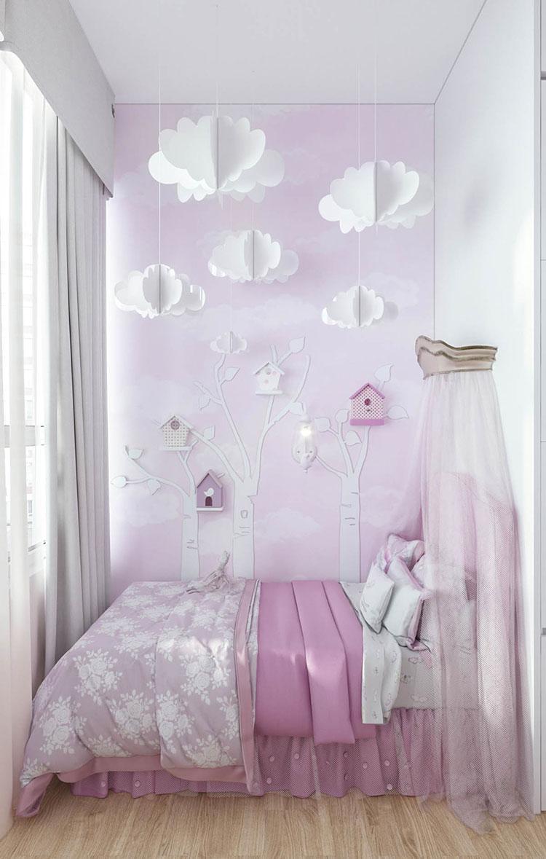 Idee per arredare una cameretta rosa in maniera originale n.07