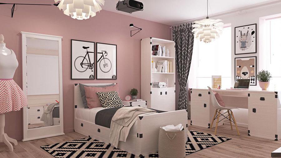 30 idee per colori di pareti di camerette per bambini for Cameretta rosa