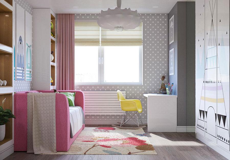 Cameretta rosa tante idee di arredo dal design originale for Cameretta rosa