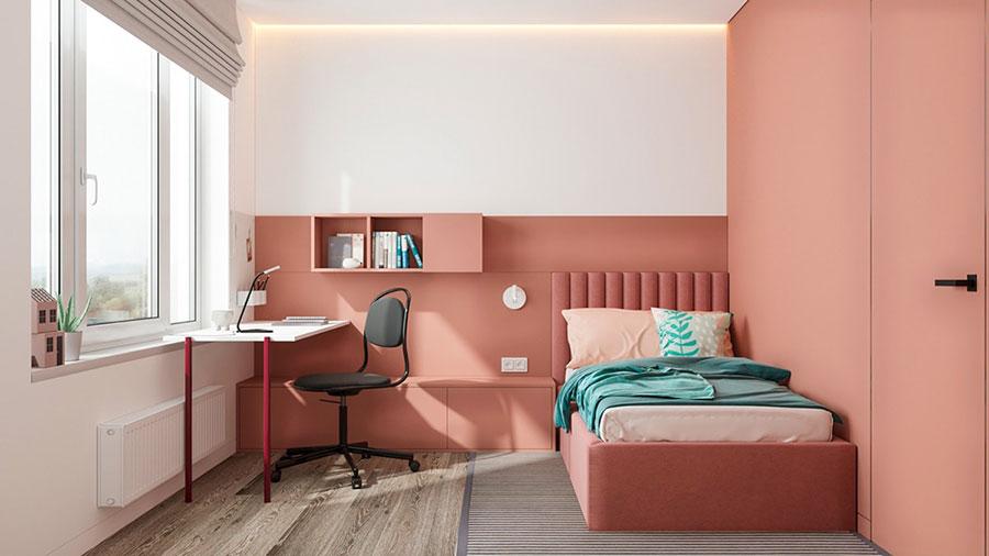 Idee per arredare una cameretta rosa cipria n.03