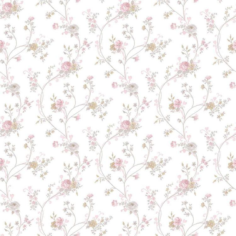 30 tipi di carta da parati shabby chic for Carta parati fiori
