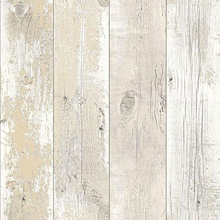 30 tipi di carta da parati shabby chic for Carta da parati effetto legno