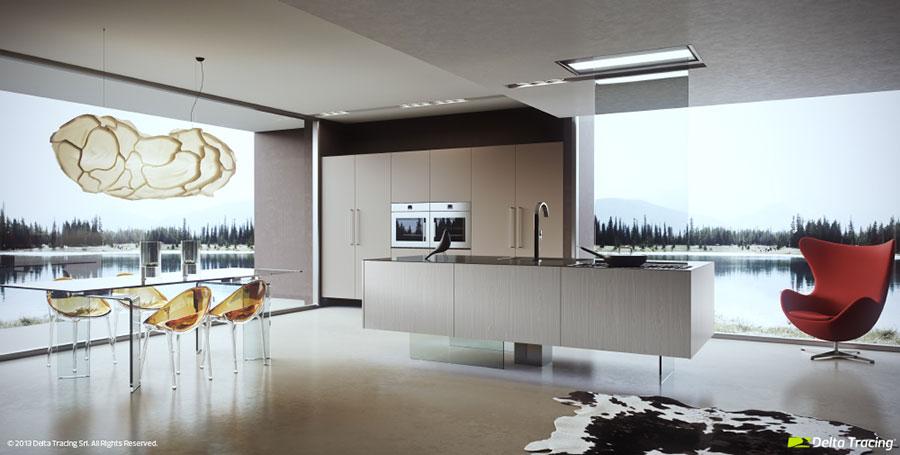Idee per arredare una cucina open space con isola n.03
