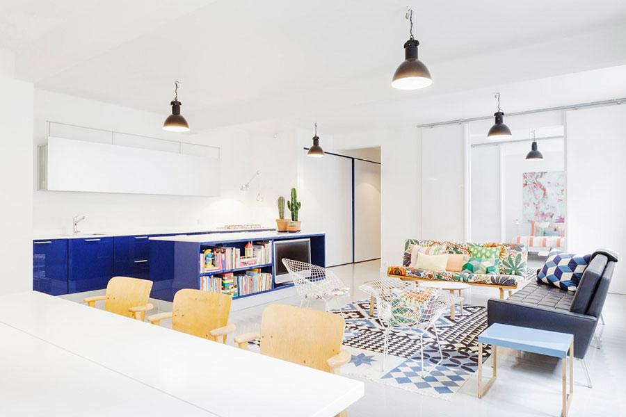 Idee per arredare una cucina open space con isola n.06
