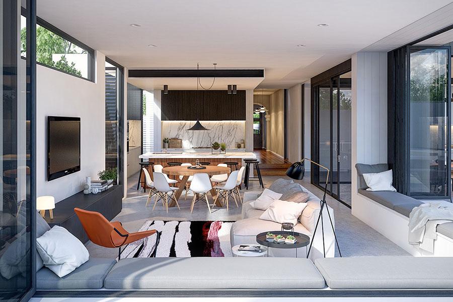 Idee per arredare una cucina open space con isola n.09
