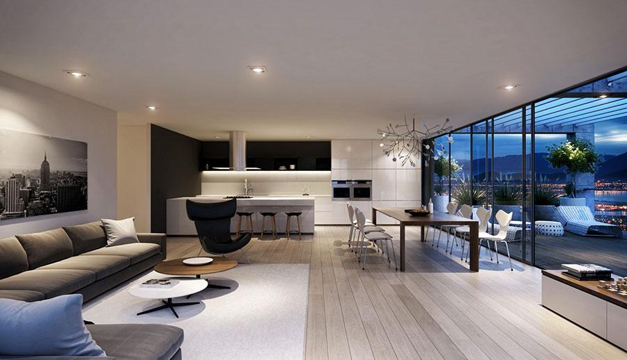 Idee per arredare una cucina open space con isola n.11