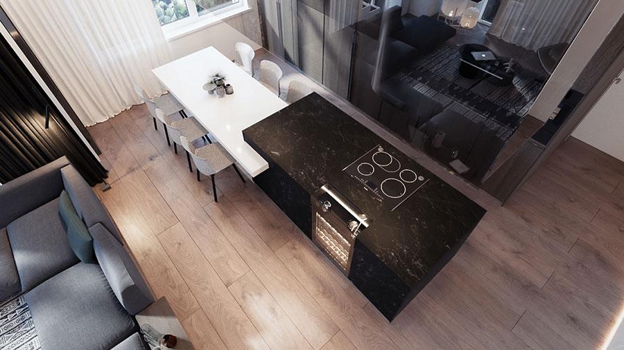 Idee per arredare una cucina open space con isola n.14