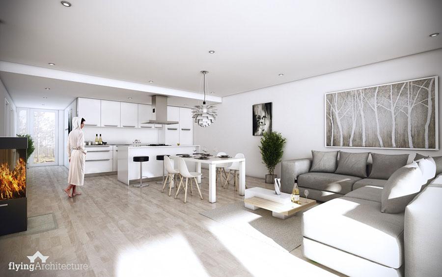 Idee per arredare una cucina open space con isola n.20