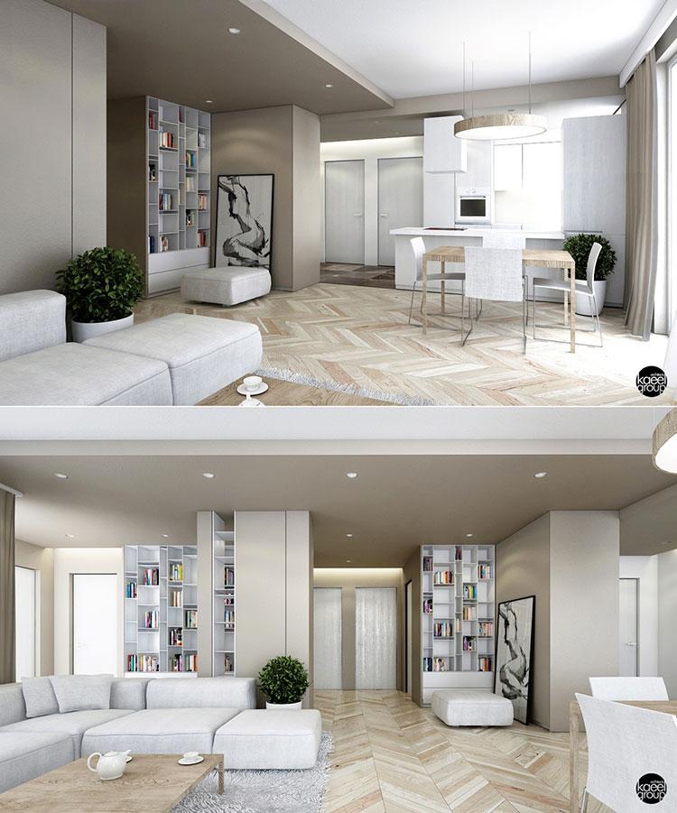 Idee per arredare una cucina open space con isola n.21