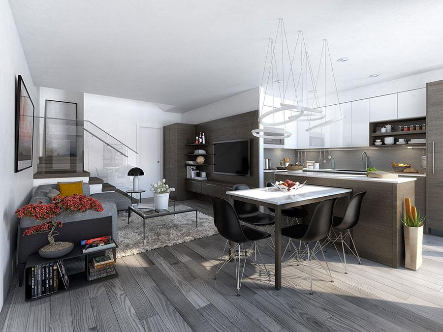 Idee per arredare una cucina open space con isola n.23