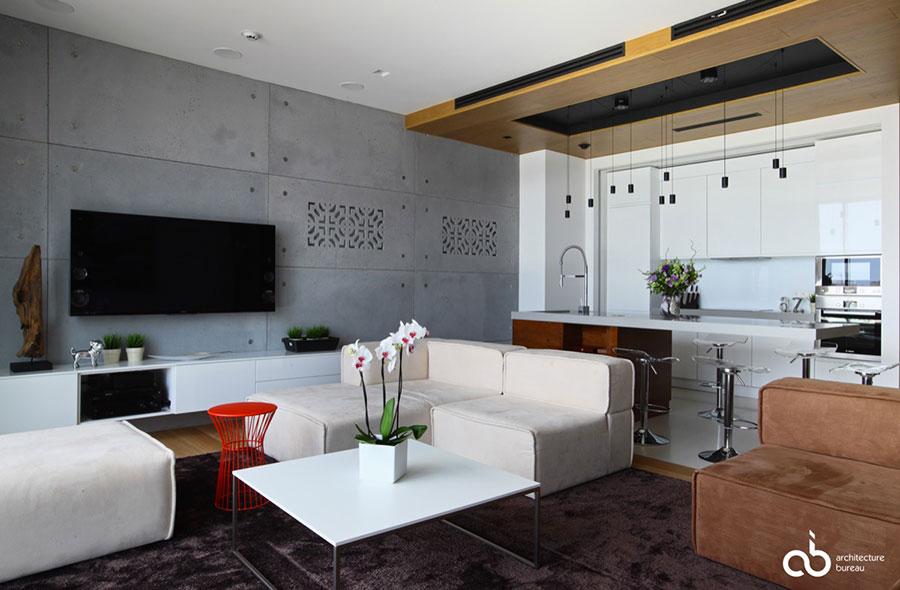 Cucina open space con isola. fresco cucina open space con isola