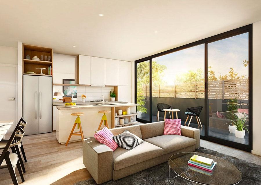 Idee per arredare una cucina open space con isola n.26