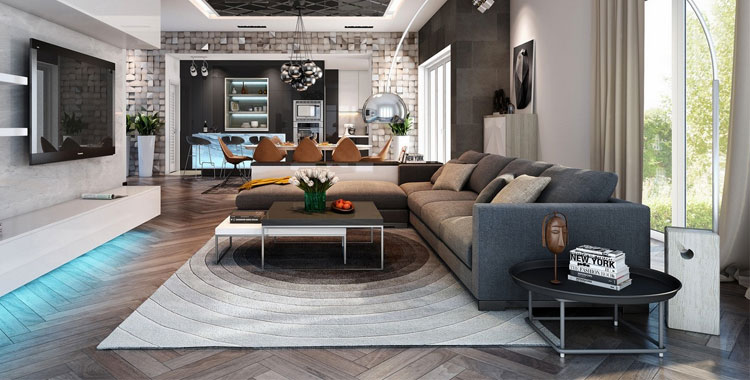 200 idee per ambienti open space di ogni tipo stile e for Ambienti interni moderni