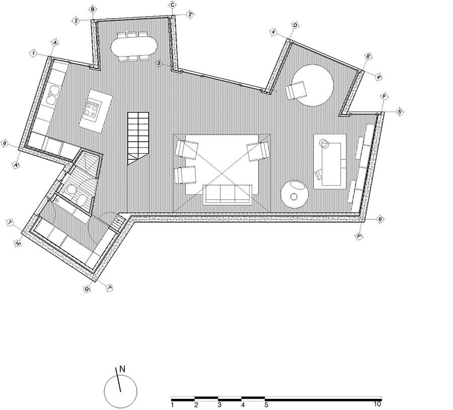 Veduta della casa da sogno Sunflower House n.12