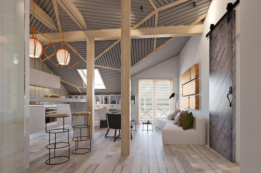 Arredamento per casa piccola in stile moderno n.02
